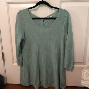 Anthropologie Button Tunic Sweater